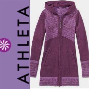 Beautiful purple long zip up hoodie